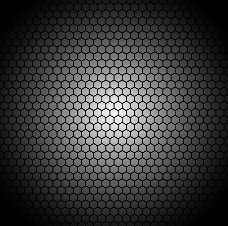 De achtergrond van de koolstofvezel met achthoekige vormen Herhaalbare geome stock illustratie