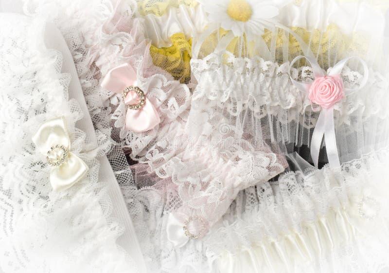 De achtergrond van de kousebandbruid stock foto