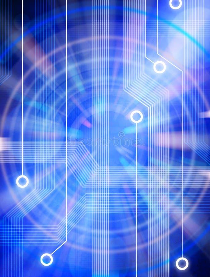 De Achtergrond van de Kring van de technologie royalty-vrije illustratie