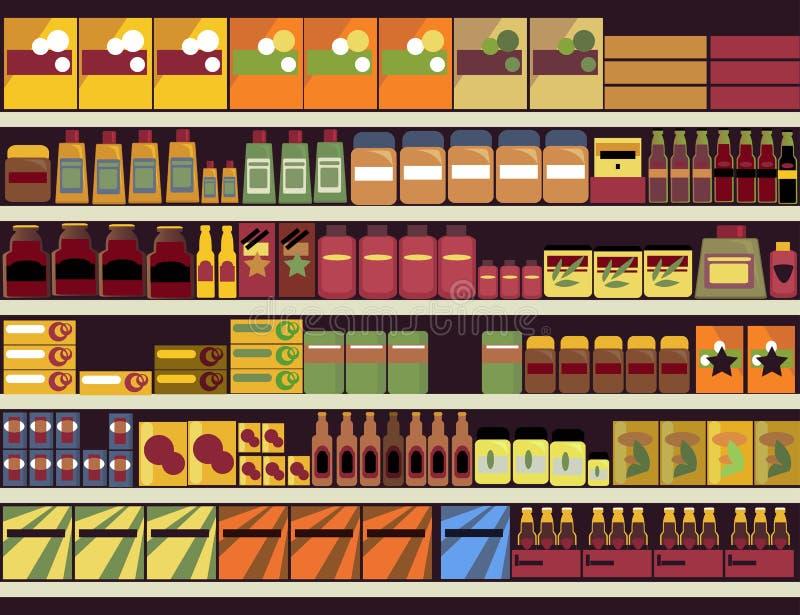 De achtergrond van de kruidenierswinkelopslag royalty-vrije illustratie