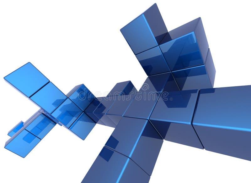 De achtergrond van de kubus vector illustratie