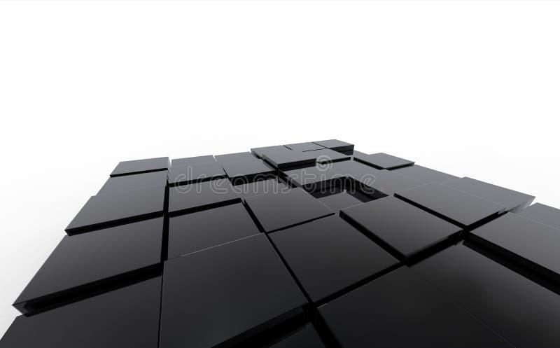 De achtergrond van de kubus royalty-vrije illustratie