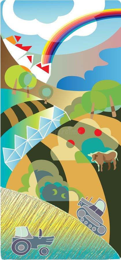De achtergrond van de landbouw stock illustratie