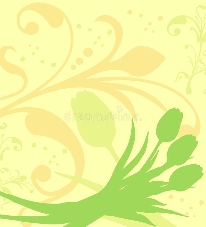 De achtergrond van de lente, vector royalty-vrije illustratie