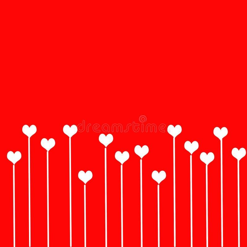 De achtergrond van de liefde met harten stock illustratie