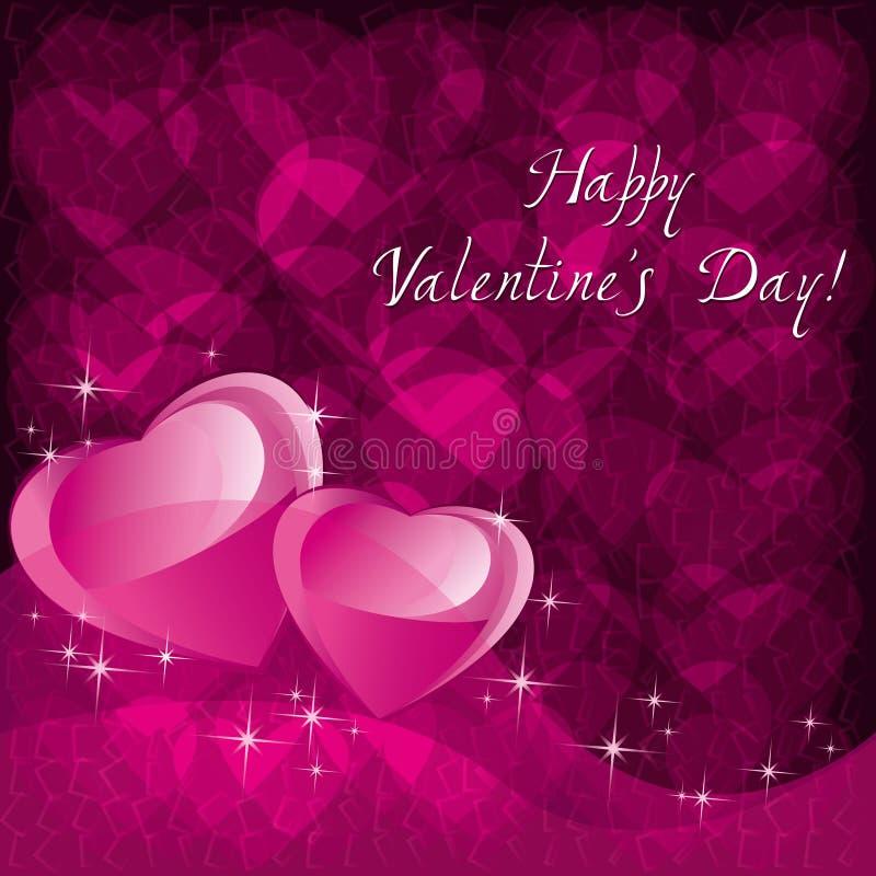De achtergrond van de liefde voor de dag van Valentijnskaarten stock illustratie