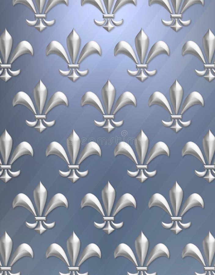 De achtergrond van DE lis van Fleur royalty-vrije illustratie