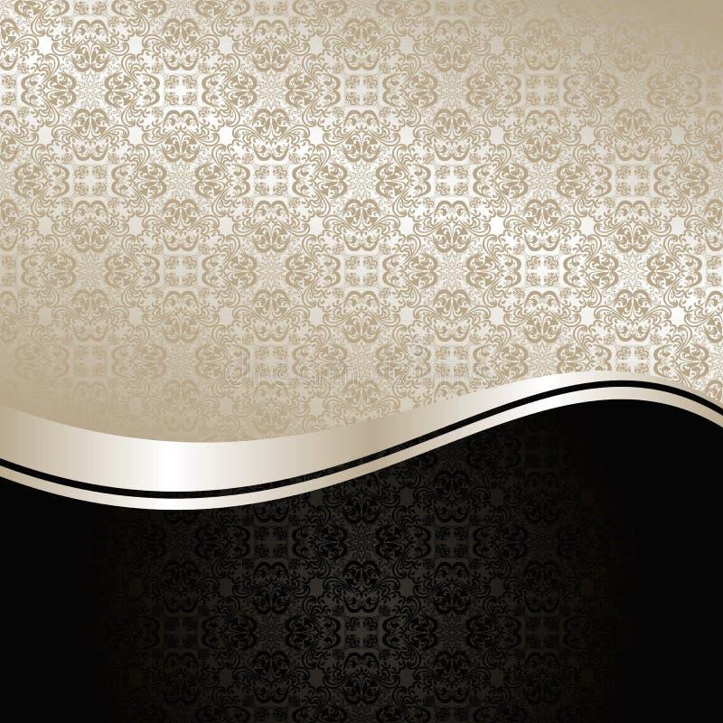 De Achtergrond van de luxe: zilver en zwarte. royalty-vrije illustratie