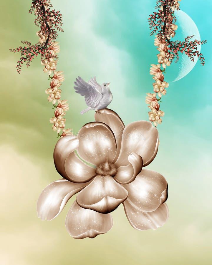 De achtergrond van de magnolia stock illustratie