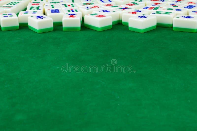De Achtergrond van de mahjonglijst royalty-vrije stock afbeeldingen