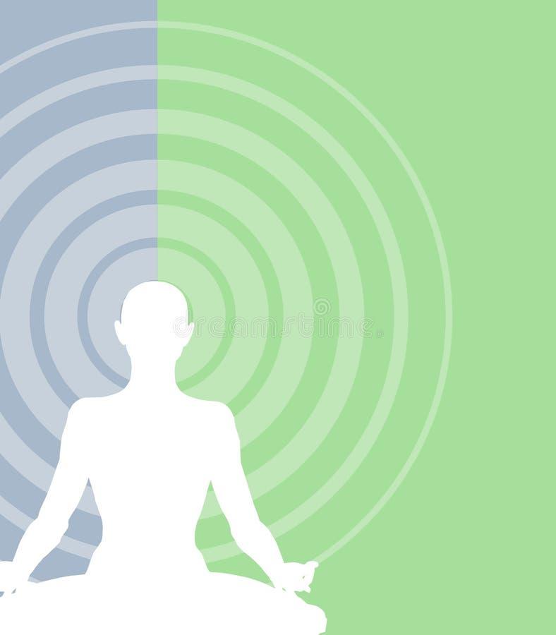 De Achtergrond van de meditatie vector illustratie
