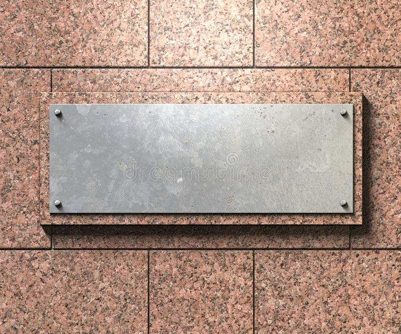 De achtergrond van de metaalplaat stock illustratie