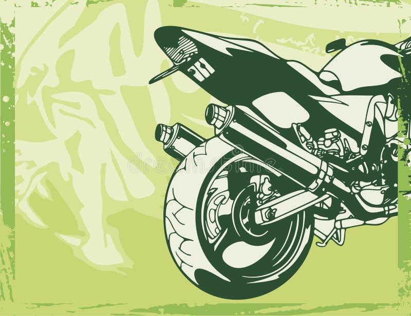 De Achtergrond van de motorfiets vector illustratie