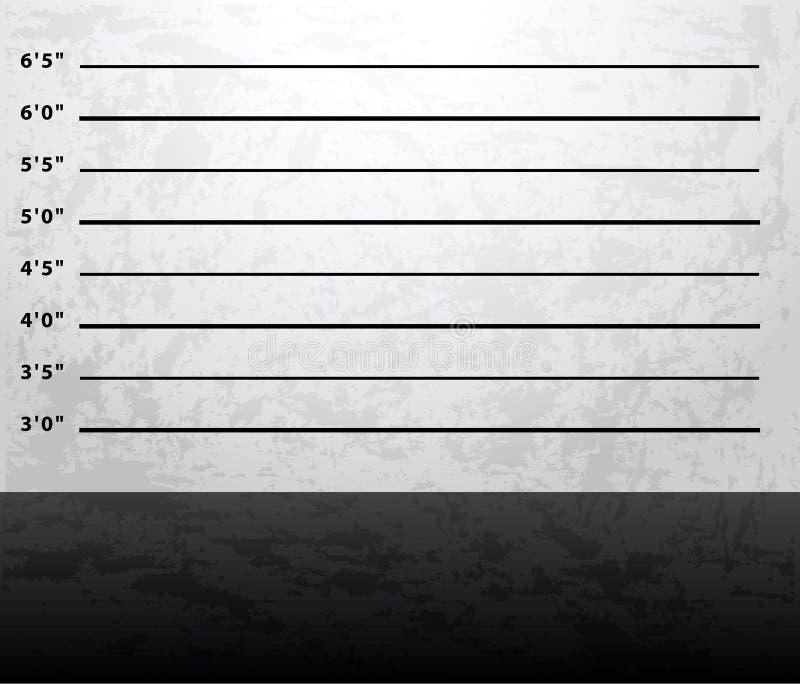 De achtergrond van de Mugshotgevangenis Het schieten van muur vector illustratie