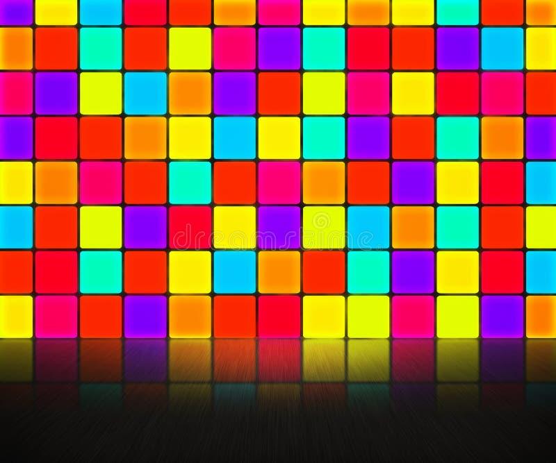 De Achtergrond van de Muur van de disco stock illustratie