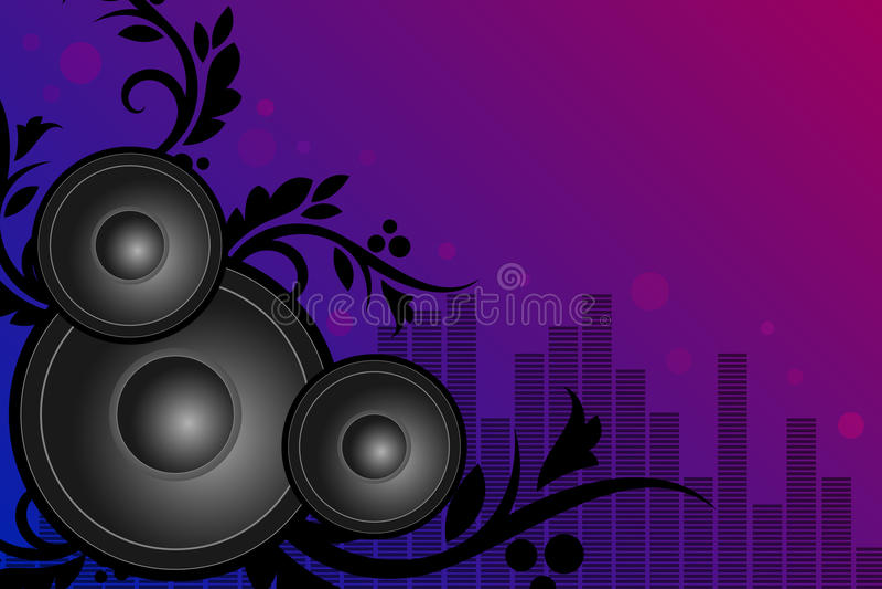 De achtergrond van de muziek stock illustratie