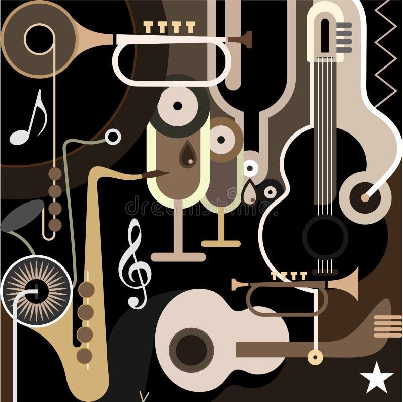 De Achtergrond van de muziek - abstracte vectorillustratie stock illustratie