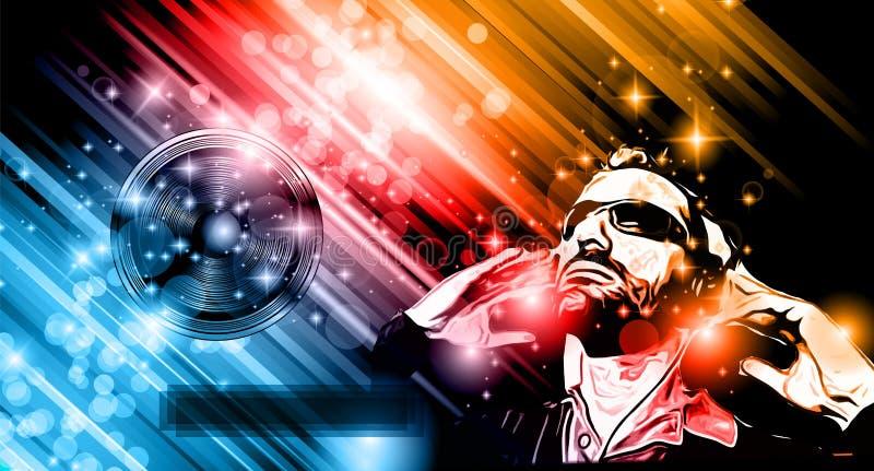 De achtergrond van de muziekclub voor de vliegers van de discodans stock illustratie