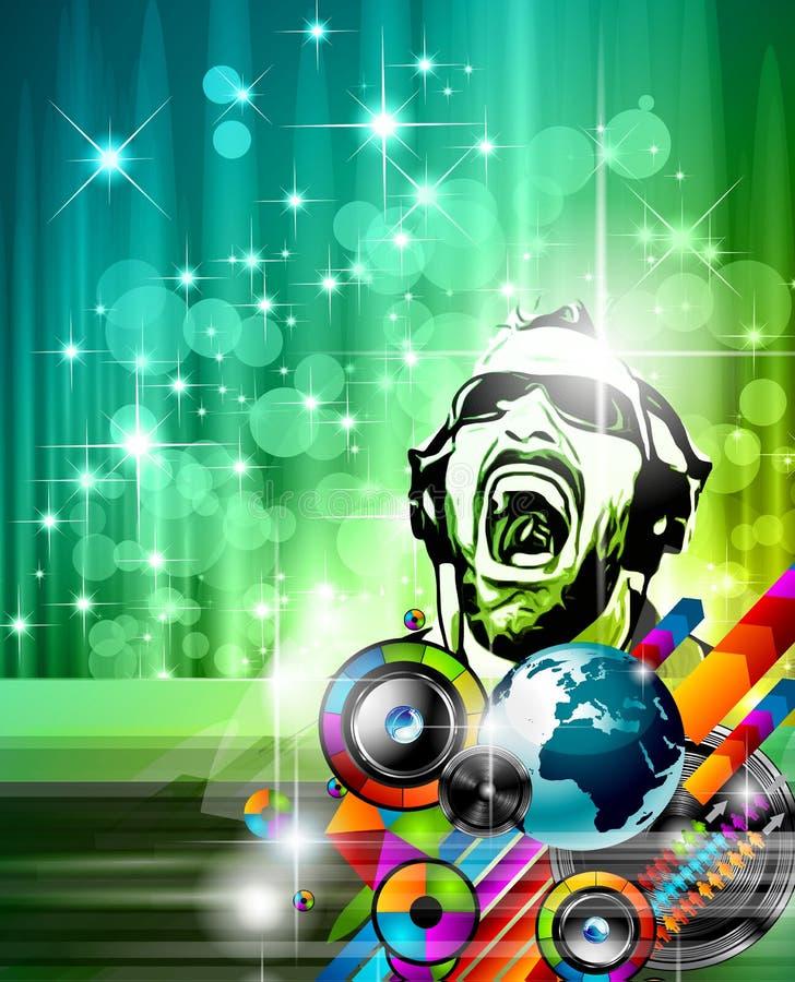 De achtergrond van de muziekclub voor discodans royalty-vrije illustratie