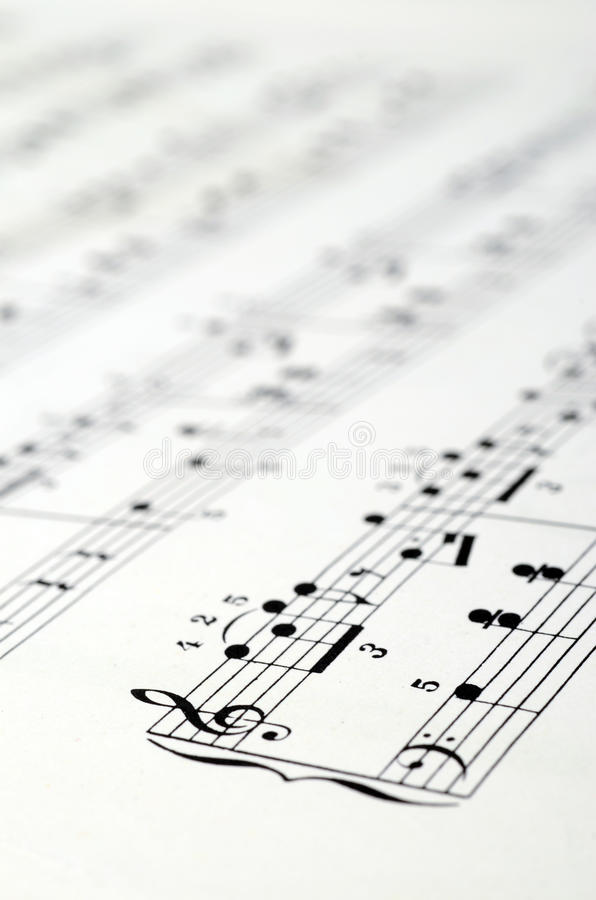 De achtergrond van de muziekscore royalty-vrije stock foto