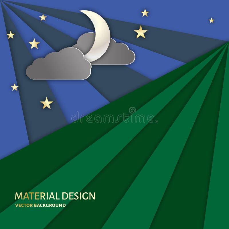 De Achtergrond van de nachthemel royalty-vrije illustratie