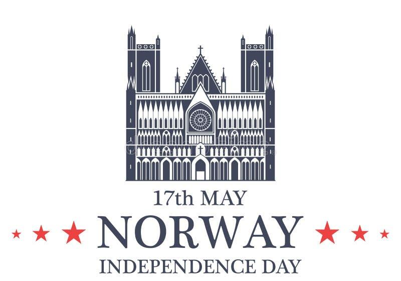 De achtergrond van de onafhankelijkheid Day noorwegen vector illustratie