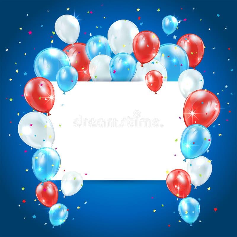 De achtergrond van de onafhankelijkheidsdag vector illustratie