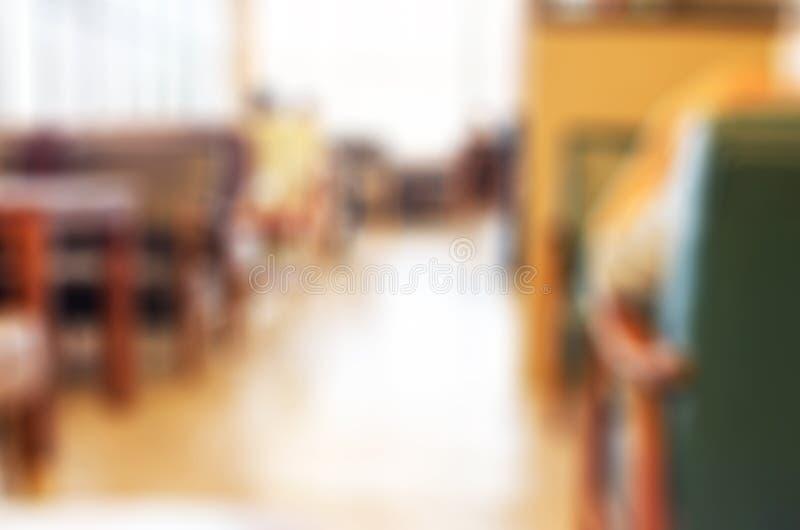 De achtergrond van de onduidelijk beeldkoffie stock afbeelding
