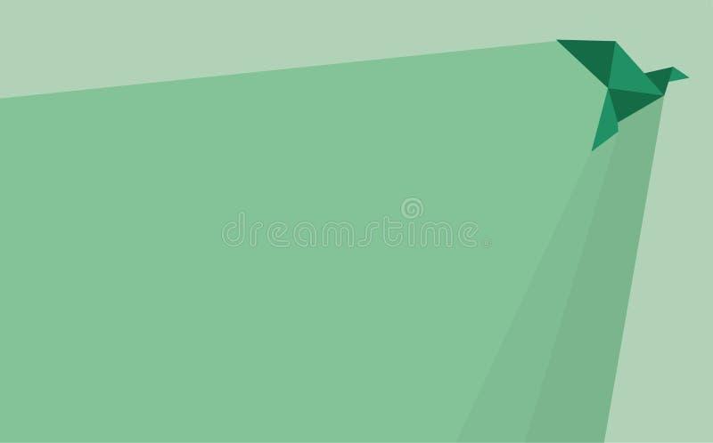 De Achtergrond van de origamivogel royalty-vrije illustratie