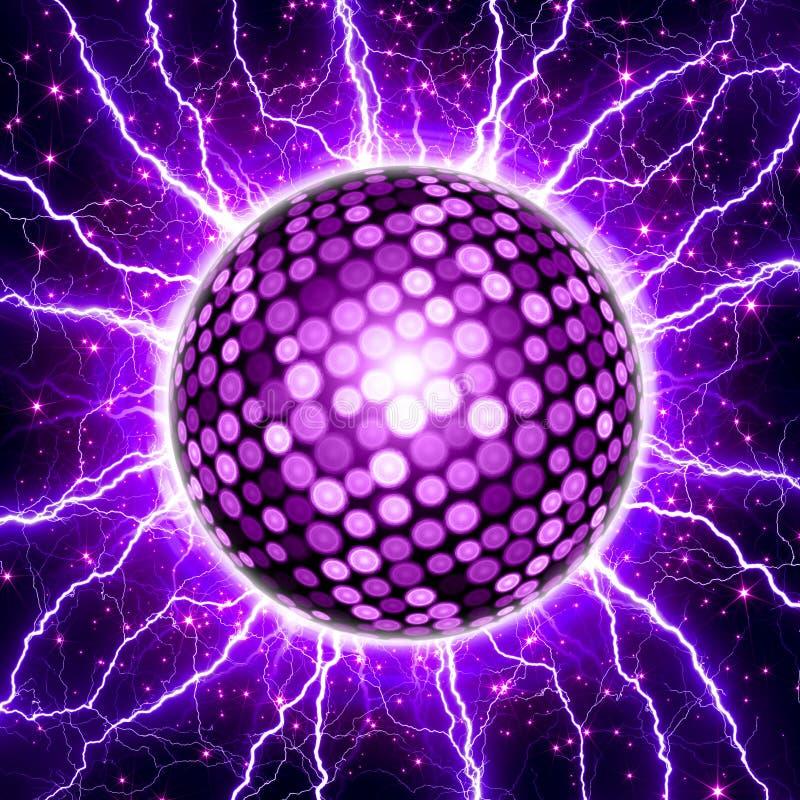 De achtergrond van de partij, discobal stock illustratie