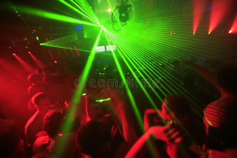 De Achtergrond van de Partij van de Club van de nacht stock foto