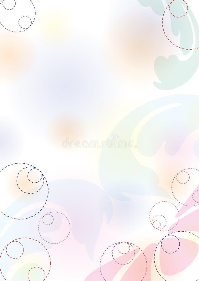 De achtergrond van de pastelkleur royalty-vrije illustratie