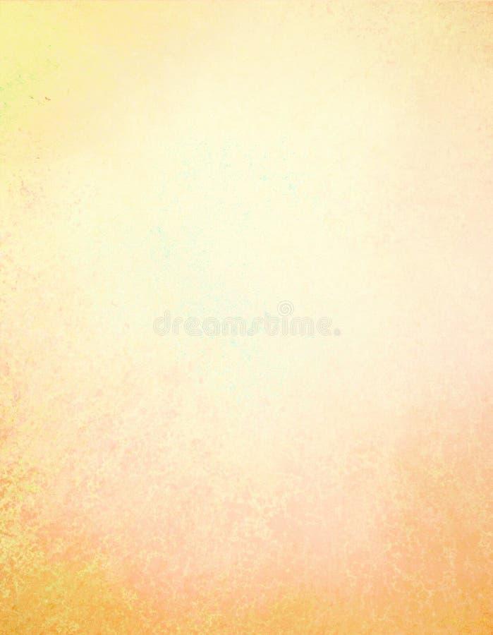 De achtergrond van de pastelkleurherfst in geel goud met de rode oranje textuur van de grungegrens royalty-vrije stock afbeelding