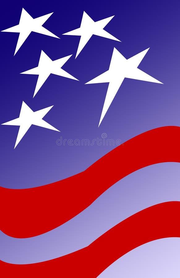 De Achtergrond van de patriot vector illustratie