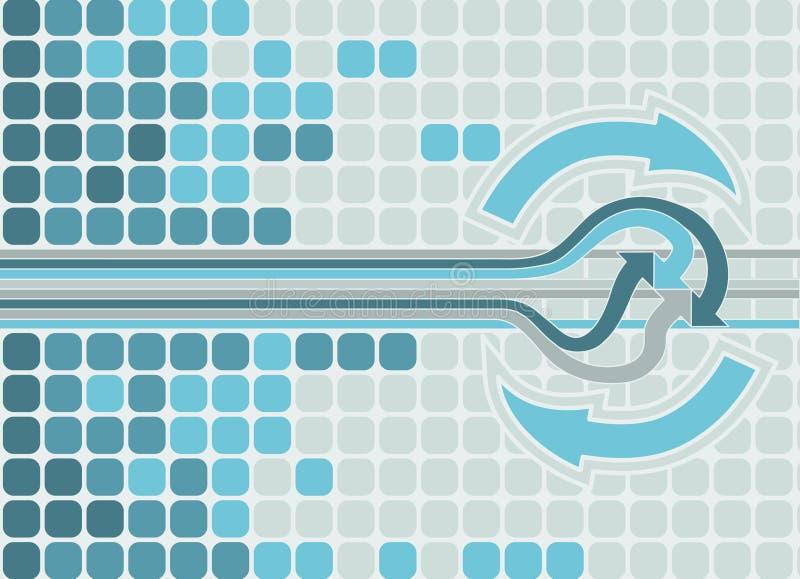 De achtergrond van de pijl. royalty-vrije illustratie