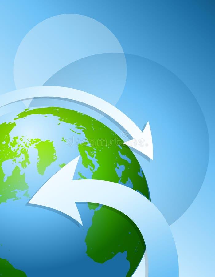 De Achtergrond van de Pijlen van de aarde stock illustratie