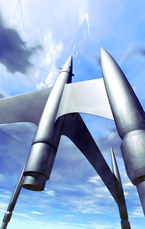 De achtergrond van de raket royalty-vrije illustratie
