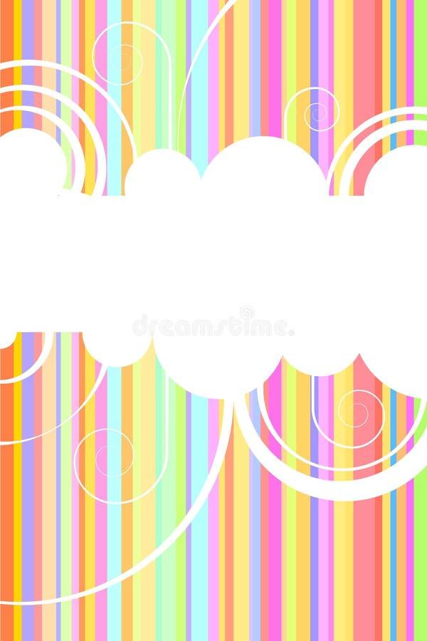 De achtergrond van de regenboog stock fotografie