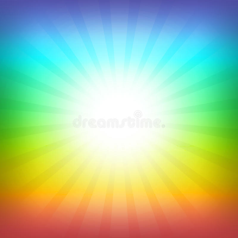 De achtergrond van de regenboog royalty-vrije illustratie