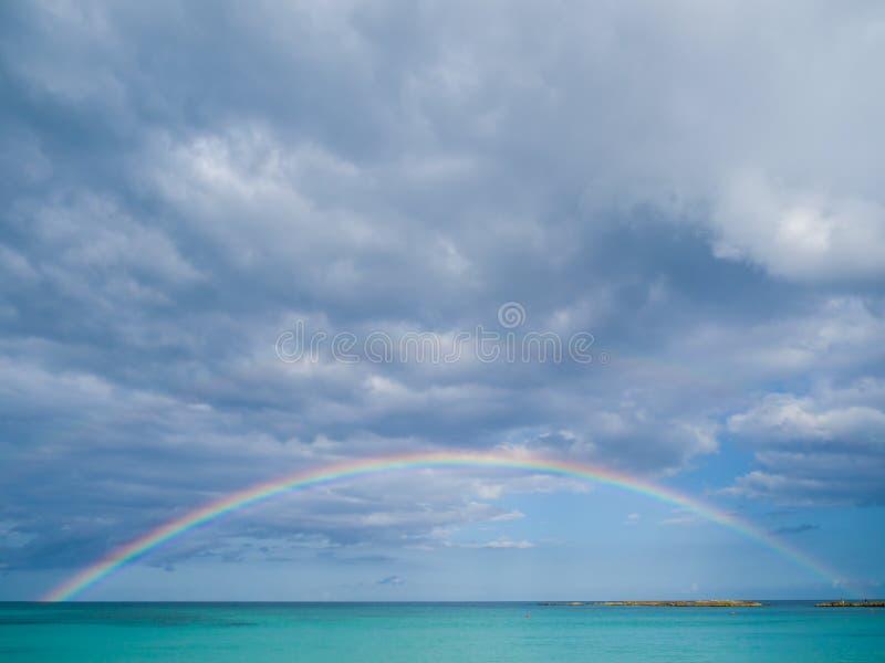 De achtergrond van de regenboogreis royalty-vrije stock foto