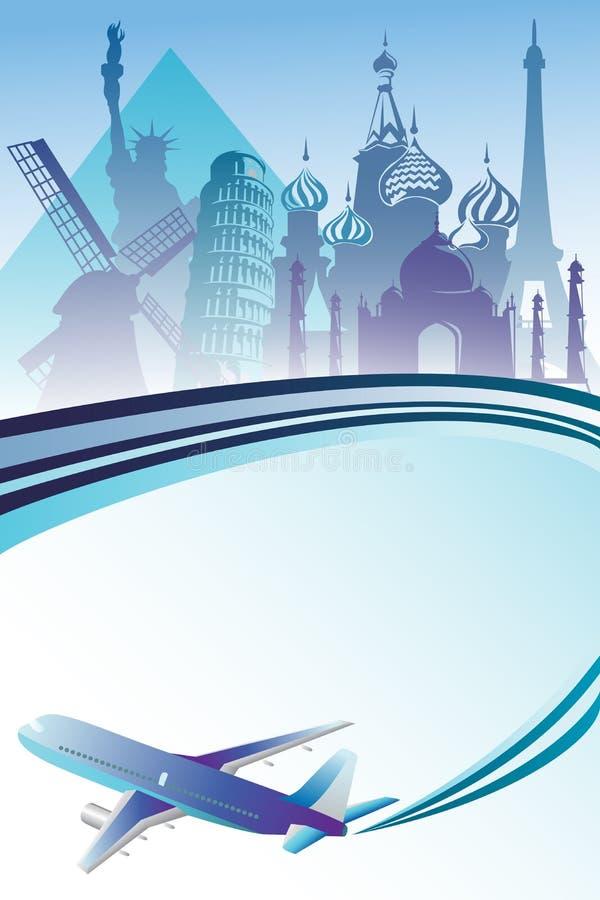 De achtergrond van de reis stock illustratie