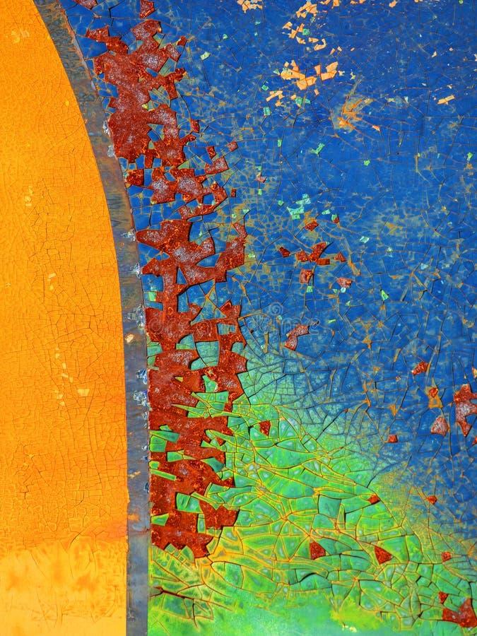 De achtergrond van de roest Groen en bruin stock foto