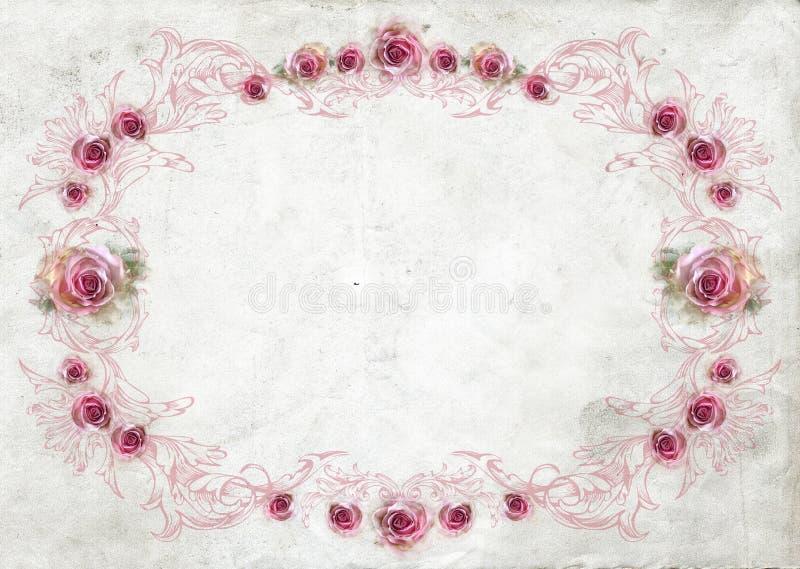 De achtergrond van de rozengrens vector illustratie