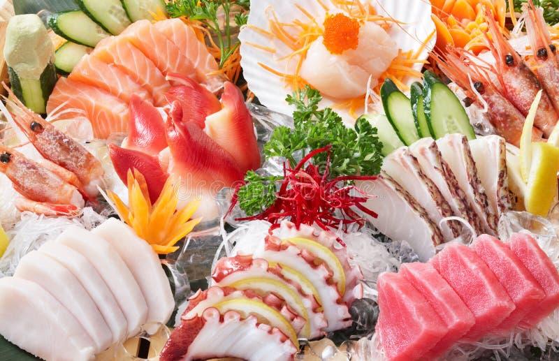 De achtergrond van de sashimi royalty-vrije stock afbeelding