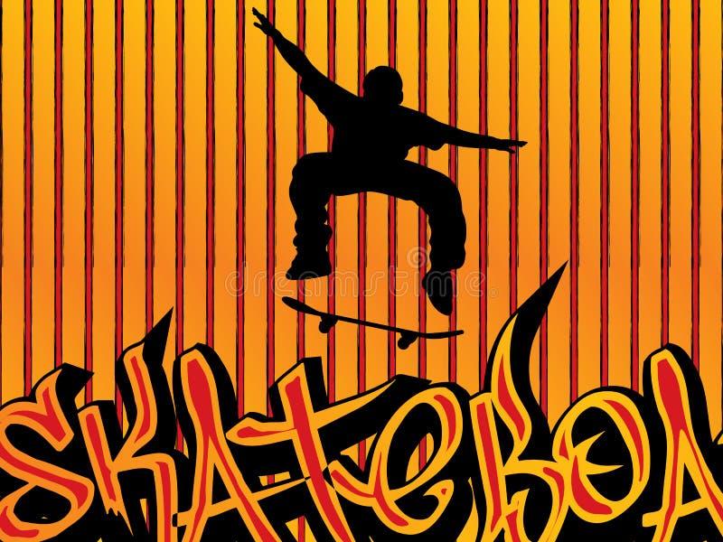 De achtergrond van de schaatser stock illustratie