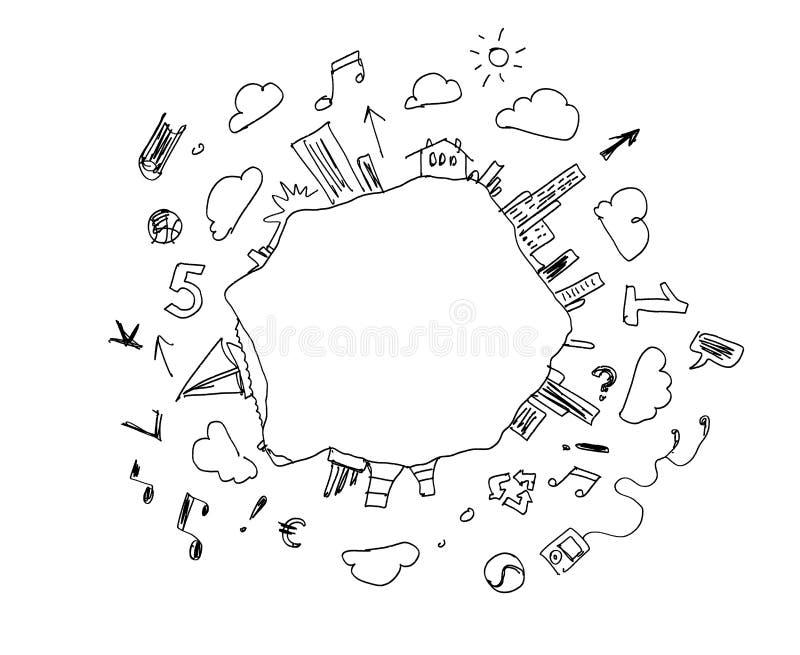De Achtergrond van de schets stock illustratie