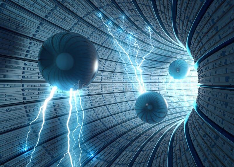 De Achtergrond van de science fiction royalty-vrije illustratie