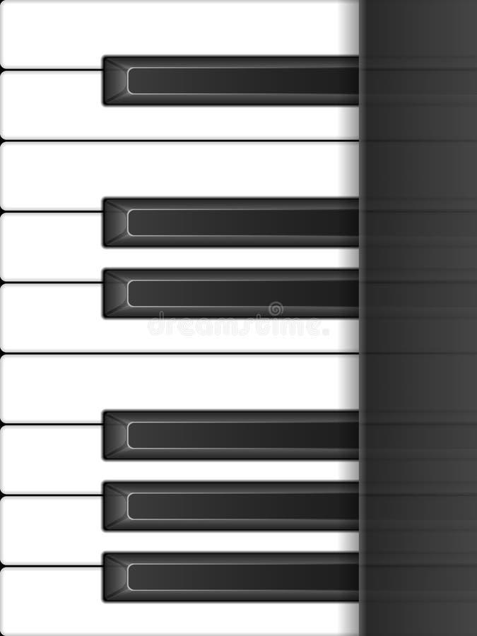 De Achtergrond van de Sleutels van de piano royalty-vrije illustratie