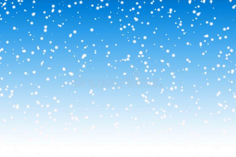 De achtergrond van de sneeuw royalty-vrije illustratie