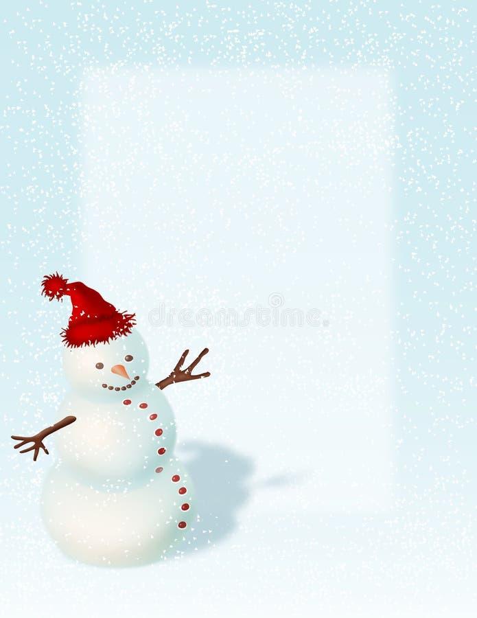 De Achtergrond van de sneeuwman stock illustratie